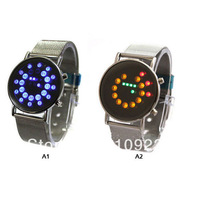 LED Mirror Time Date Men's Casual/Sport Watch Wristwatch H0337