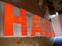 customized attractive 3D led signs sign letters channel letters light box signboard signage banner