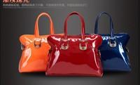 Hot selling  New Arrivals 2013 Fashion Brand Handbag Shoulder Bag Messenger Shiny Surface PU Women Laptop Handbag