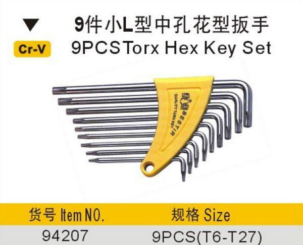 Yüzey 9 adet torx altıgen anahtar seti hiçbir 94207 freeshipping