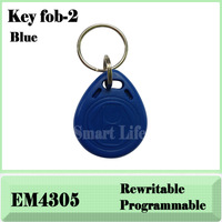 100pcs 125Khz em keyfob RFID Proximity ID EM4305 Keyfobs with Metal Ring (Free shipping)