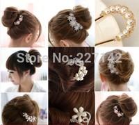 Girls hairgrip 2014 new fashion pearl & diamond hair combs,fashion hair clips for women hair accessories wholesale/retail # 0007