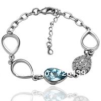 18K Gold Plated Austrian Crystal Bracelet Fashion Jewelry Hot Sale Wholesale Free Shipping 18KGP B001