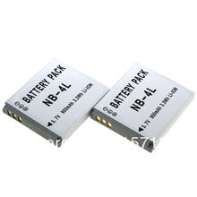 Accessories & Parts!Digital boy 2Pcs NB-4L NB4L Rechargeable Camera Battery for CANON Digital IXUS 100 110 30  Digital 10 SD300