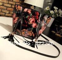 free shipping/2013 summer female vintage bag oil painting bag flower tassel messenger bag female bags fashion