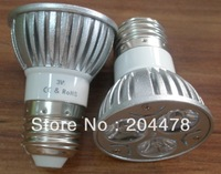 Free shipping High Brightness E27 3W Led spotlight with Epistar Led chip,2 years warranty,CE & Rohs,replace 25w lamp,6pcs/lot