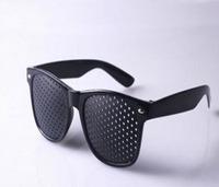 2pcs/lot  Black Pinhole Glasses Eyesight Vision Improve Glasses Eyes Exercise Glasses Eye Care Glasses  Free Shipping