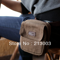 Casual male waist pack messenger bag 100% cotton canvas multifunctional small bag fashion