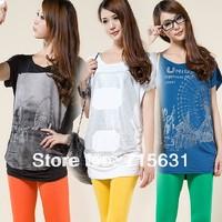 3XL 4XL Plus Size T-Shirt 2014 Women Summer Loose Batwing Short-Sleeve T-shirt plus size clothing L XL XXL XXXL XXXXL