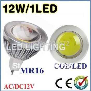 FREE SHIPPING 5pcs/lot 6W 9W 12W 15W MR16 GU10 E27 COB LED Spot Light Spotlight Bulb Lamp High power lamp AC/DC12V 3 years