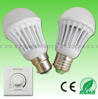 Recommend New Product! Dimmable 7W 650lm 9W 850lm SMD3014 LED bulb,B22/E27 base,AC200-260V,Aluminum+PC,12pcs/LOT free DHL!!!
