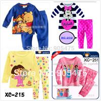 Girl Kitty  pyjamas Baby soft pajamas long sleeves sleepwear Baby Pyjamas Children Pyjamas Children Sleepwear #01