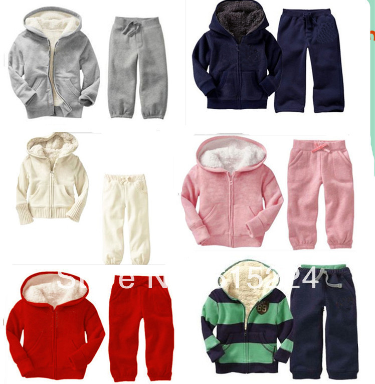 children clothing sport suit for winter with wholesale and retail Kids Clothes baby clothing new free shipping(China (Mainland))