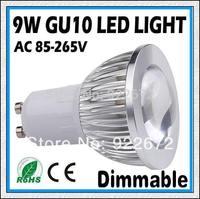 FREE SHIPPING 10PCS 6W 9W 12W GU10 E27 E14 COB LED Spot Light Spotlight Bulb Lamp High power lamp 85-265V Warranty 3 years