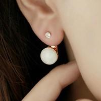 Min Order 12$ top quality, vintage crystal stud earrings, wholesale price ES0001