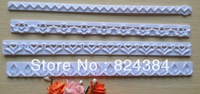 Free shipping  New Straight Frill Cutter Embossed Mold Heart,Flower,Lace Shape