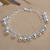Free shipping 925 sterling silver jewelry bracelet fine fashion tinkle pendant bracelet top quality wholesale and retail SMTH056