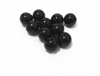 Wholesale Beads 20MM 100pcs/lot Black Acrylic Beads,Chunky Necklace Beads,Acrylic Solid Beads For Chunky Necklace