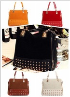 HX1668 New Brand Designer Women Casual Noble Shoulder Bag Rivet Totes Clutch lady Handbags Fashion bags,2013FREE Shipping