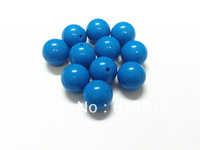 20MM 100pcs/lot Blue Acrylic Beads,Acrylic Gumball Beads For Chunky Necklace Making