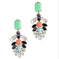 2013 new Crew Brand fashion earrings,wholesale,free shipping,flower earrings,Crystal-encrusted earrings