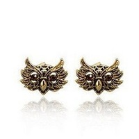 Free shipping New fashion exaggerated punk Personalized animal shapes Cute owl Stud Earrings jewelry for women 2014 PT21