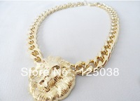 Free shipping Min Order $5 New Trend Hot-selling Lion Hesd Necklace