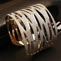 Fine European Metal Exaggerated Scrub Leopard temperament Bracelet Free Shipping