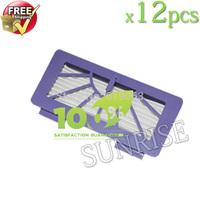 Free Shipping! 12 Piece 2014 Newest Neato XV-11 XV-12 XV-15 XV-21 Cleaner HEPA Filter
