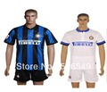 retail13/14 Inter milan home and away soccer jerseys Inter milan football uniforms black+blue soocer kits short