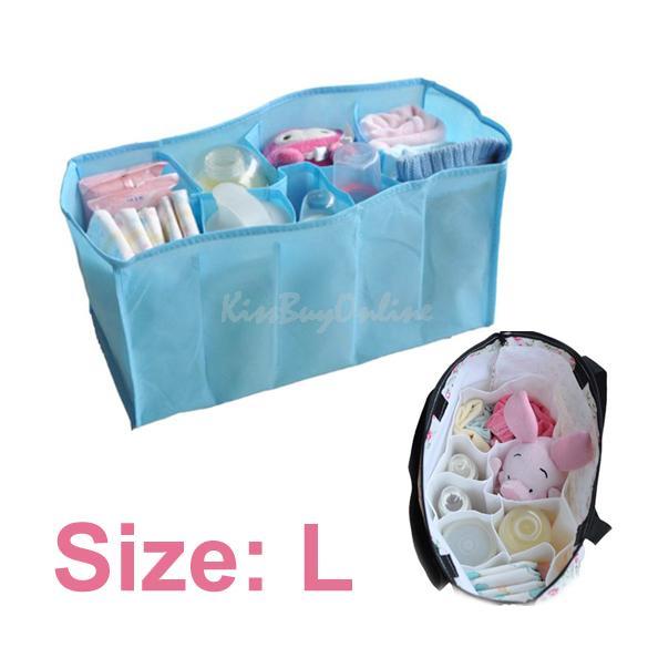 Portable Travel 7 Liners Diaper Nappy Organizer Stuffs Insert Storage Bag K5BO(China (Mainland))