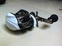 9+1BB left handle white color baitcasting fishing reel DM120LC centrifugal brake system