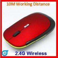 BEST PRICE!  Hot selling 2.4G Wireless mouse FACTORY  SALES 10meters working distance super slim mouse