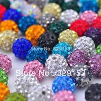Mixed colors Shamballa Beads 8mm,  100% AAAA Qulity Shamballa Bracelet Crytal Beads,8mm Disco Ball Crystal Beads