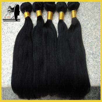 Free Shipping!!Chinese  Virgin Hair 3pcs Bundles Lots Real Human  Straight Hair Extensions Color #1#2#1b#4