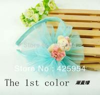 Mizobe textured lace ruffle bow hair bands / Princess tiara /  colors