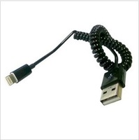 Free shipping For iphone 5 Sync and Charging Extensible USB Spiral Cable Best quality 50pcs/lot