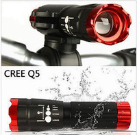 Cycling Bike Bicycle Front Light CREE Q5 Flashlight attack head 240 lm Torch 3 modes + Clip