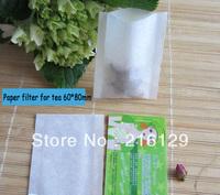 1000pcs/LOT Heat sealing filter paper tea bag 60 X 80mm empty tea bag,paper filters for tea,clean Herb filter bag+50pcs rope