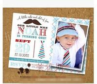 free shiiping Little man baby invitation card invitation card p3