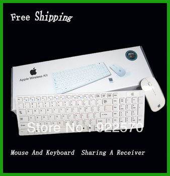 Free Shipping Wholesale Wireless Keyboard And Mouse, For Apple Wireless Mouse Keyboard  Set