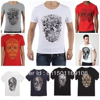 2013 Hot Brand T-Shirts, skull tshirts, Human skeleton T shirts, Fashion O-neck short sleeves t shirt free shipping