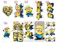 10PCS/lot newest skin design minion hard back cover case for iphone 5 5th 5s +free shipping