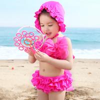 Free shipping for Summer 2014 Children Big Bow Swimsuit M Super Cute Bikini ZJ222