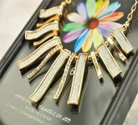 Min.order is $10 (mix order) Big Star style Hilton Love Gray matte geometric irregular short charm Necklace