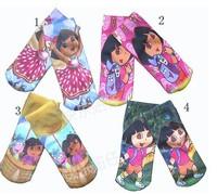 6 pairs/lot FREE SHIPPING factory direct sale socks Dora kids socks baby socks cartoon design 2 sizes 4 colours selection