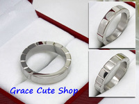 Free Shipping Brand Designer Ring Classic Jewelry 3 Color  Stainless Steel 5A Quality Package(Card,Original Box,Gift Box) #CTR23