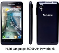 Free ship 3500mah multi-language Russian android 4.1 Lenovo P770 MTK6577T dual core 1GB RAM 4GB ROM 4.5inch 5MP 3G smart Phones