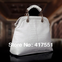 Free shipping 2013 women handbags,Totes,fashion leather bags,design brand handbag, high qulity crocodile grain temperament  bags
