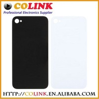 free shipping Wholesale - Back Glass for iphone 4 4S Battery Housing Door Back Cover Replacement Part with open tools